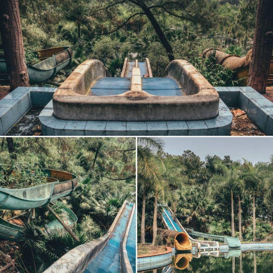 Verlaten waterpark in Vietnam