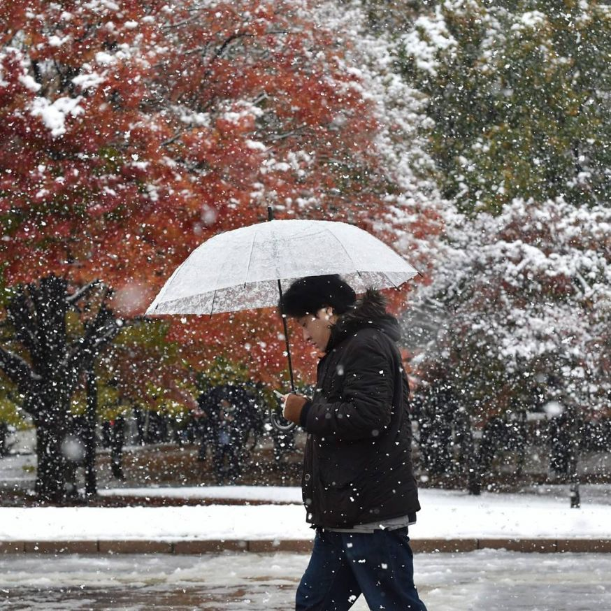 Eerste sneeuw in Tokio sinds 54 jaar