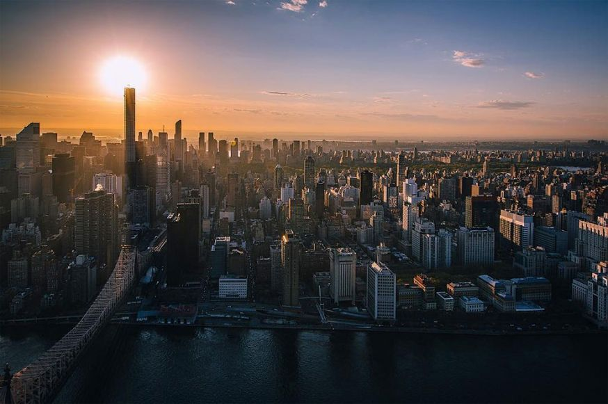 De prachtige skyline van New York