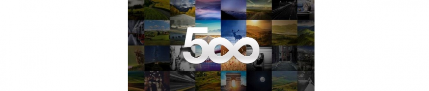 500px Logo met Wit