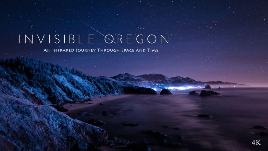 De landschappen van Oregon in infrarood
