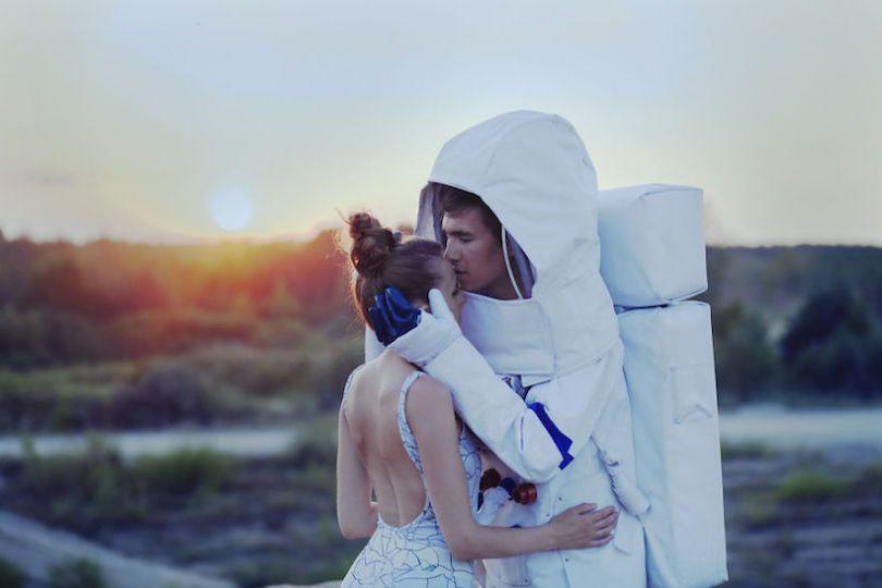 Buitenaards leuke trouwfoto's