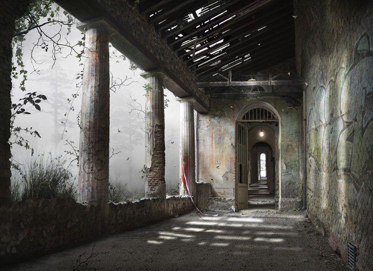 Fotografie schilderen en collages samengevoegd digifoto pro - Corridor schilderen ...