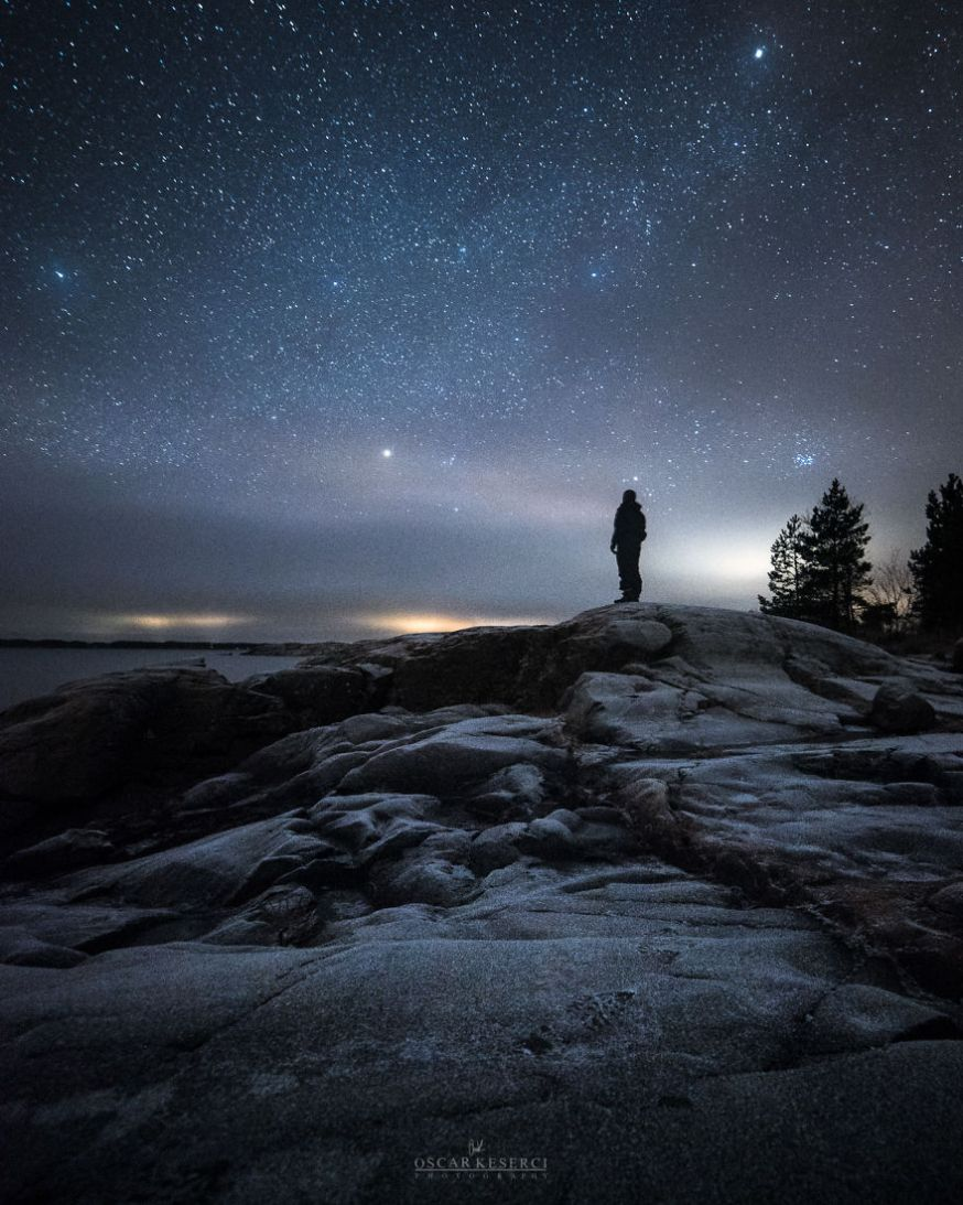 Zelfportretten onder de sterrenhemel