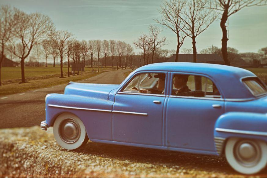 In de Spotlight: de blauwe miniatuurauto van Hilde