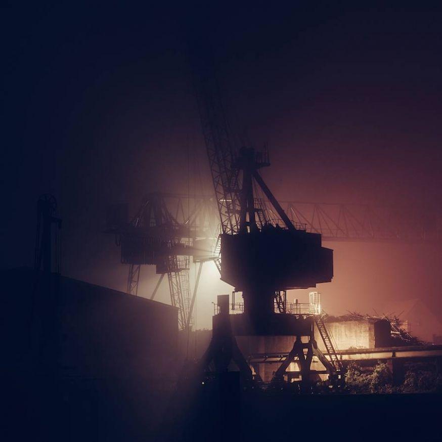 Lichten van gebouwen in de nacht