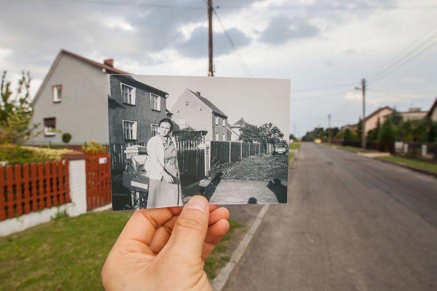 Oude en nieuwe foto's in één