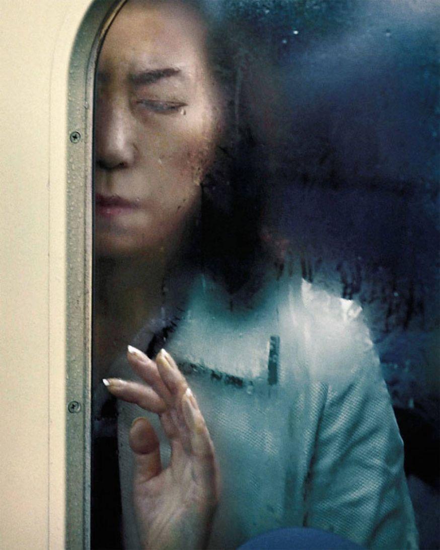 Vast in de metro