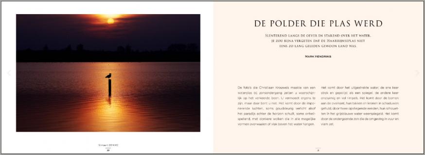 Nieuw boek van Chistiaan Krouwels toont 3 jaar Haarrijnseplas