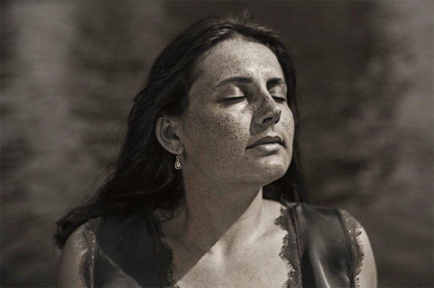 Portretten gemaakt onder UV-licht