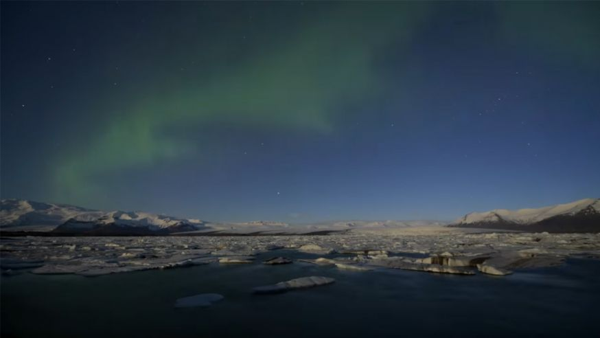 Levendige time lapse van IJsland