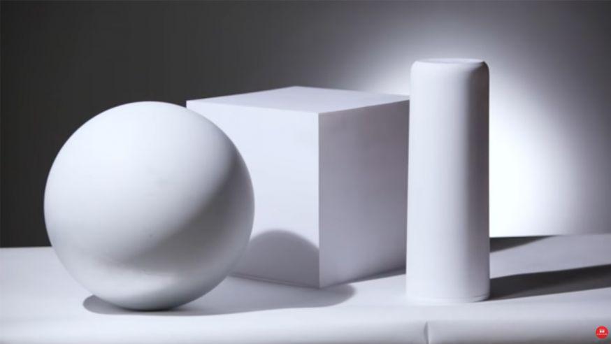 3 verschillende objecten tegelijk belichten