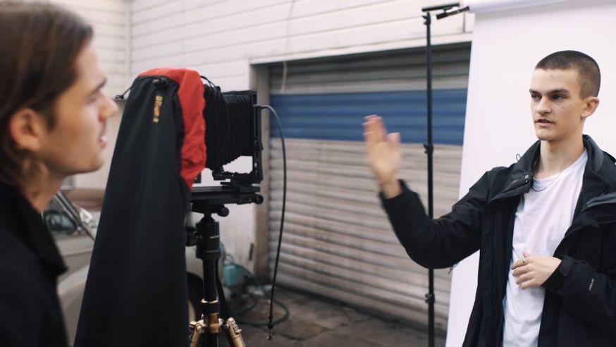 Portretteren met een grootformaat camera