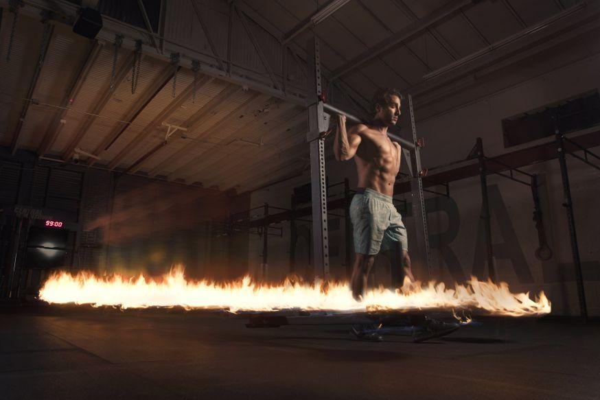 Fitness apparaten in vuur en vlam