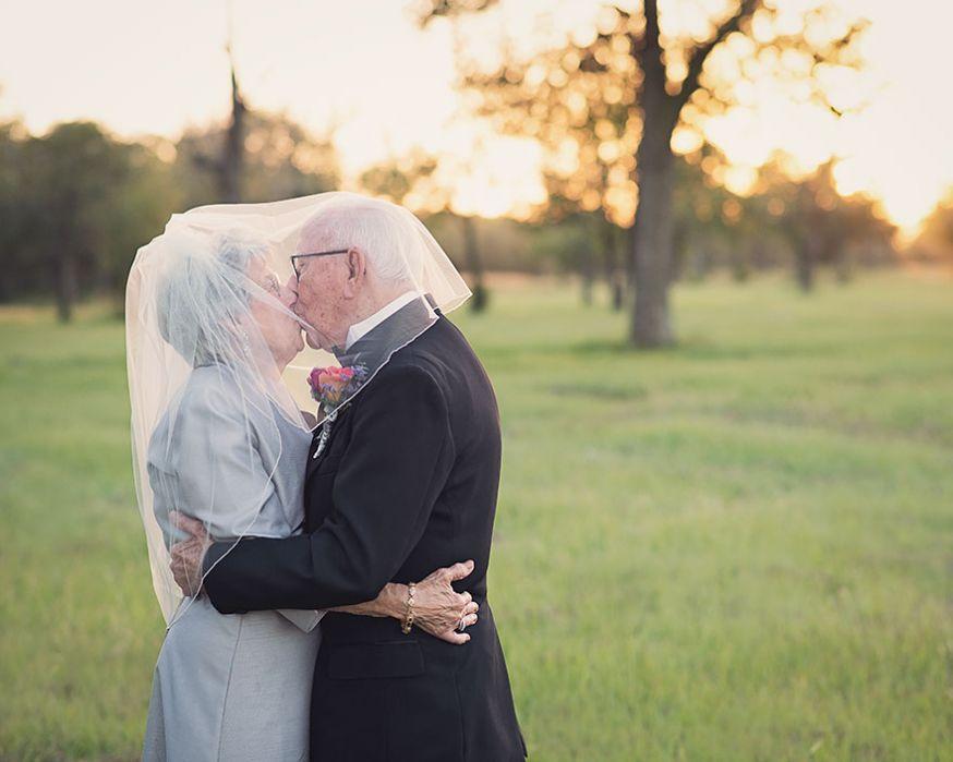Na 70 jaar toch nog trouwfoto's