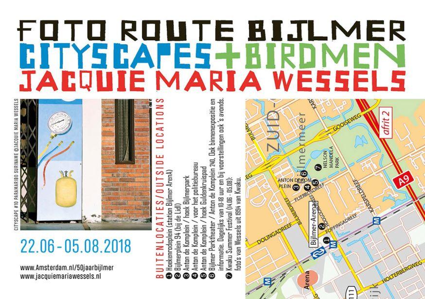 Fotoroute Bijlmer: Cityscapes + Birdmen van Jacquie Maria Wessels