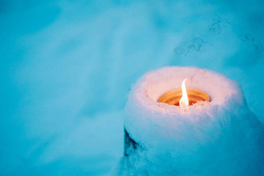 De winter van Lapland