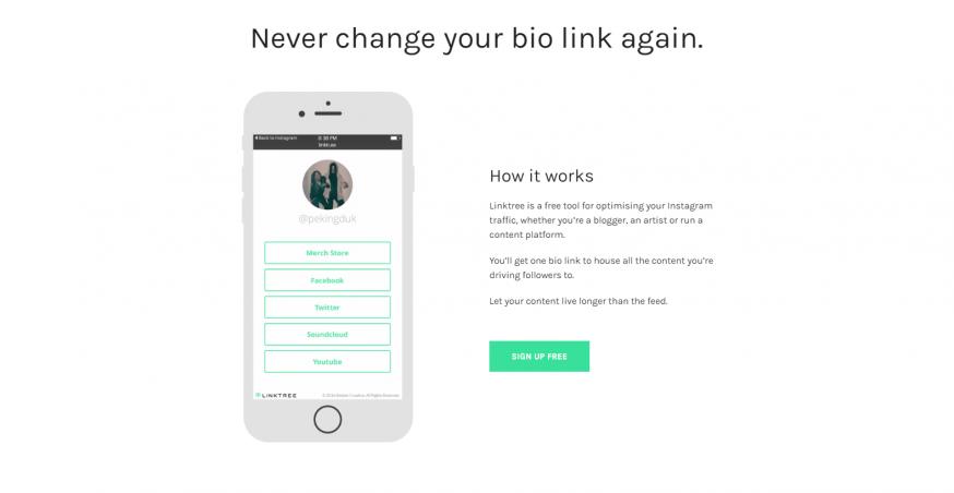 Linktree tool voor Instagram