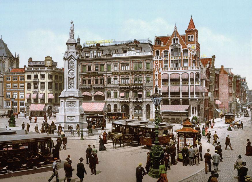 Fotochromatische kleurenfoto's van Nederland