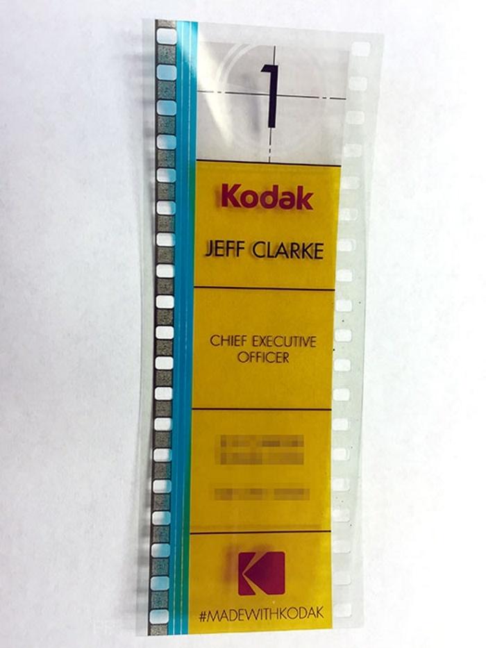 Kodak business card