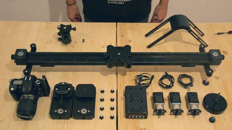 Motion control slider die in je rugzak past