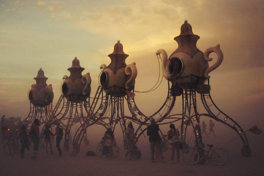 Surrealistische foto's van Burning Man