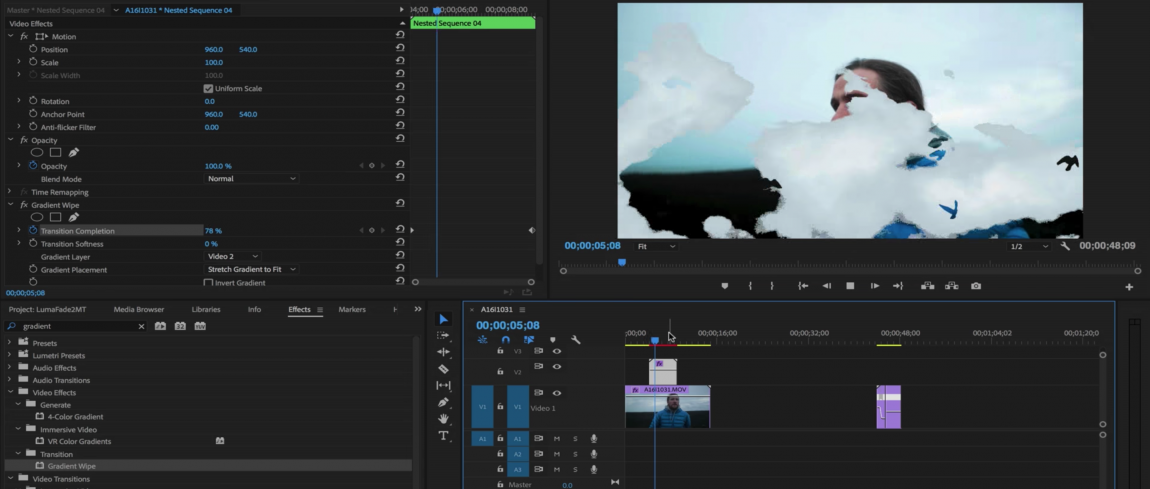 how to make a video fade in premiere pro