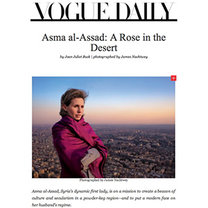 James Nachtwey werkte mee aan pr voor Syrisch regime Assad ...
