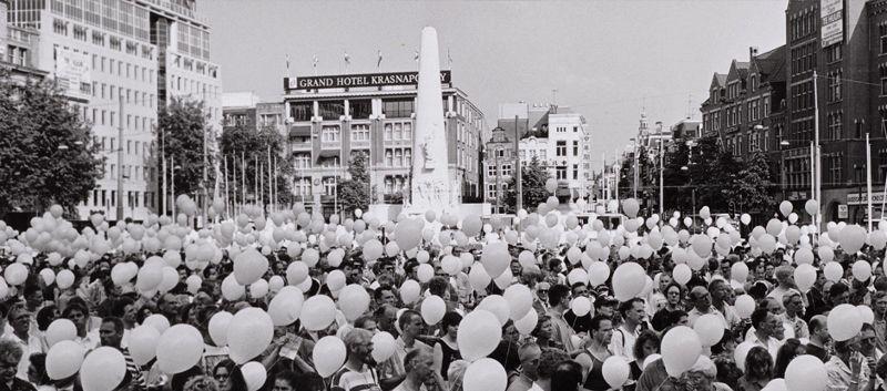 Fototentoonstelling Aids in Amsterdam