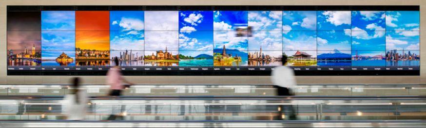Japan vliegveld 16k scherm bizar apart sony