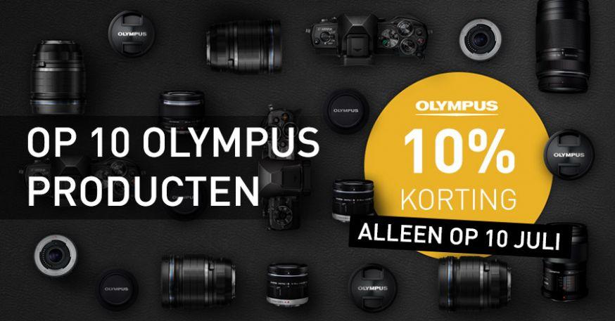 CameraTools bestaat tien jaar en viert dat met 10% korting op tien geselecteerde Olympus producten. Maak snel je keuze, want de actie geldt alleen vandaag!