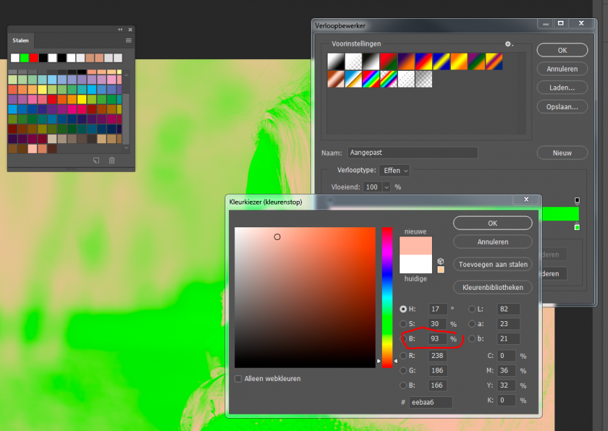 Color-grading-foto-kopiëren-percentage-invullen