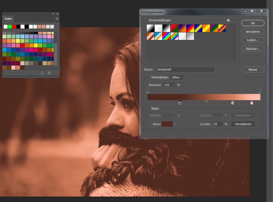 Color-grading-foto-kopiëren-tussenstap-gradient-verloop