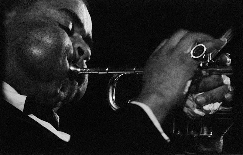 te zien op North Sea Jazz Dizzy Gillespie, Ed van der Elsken, nederlands fotomuseum