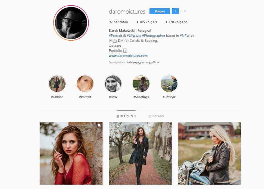 Portretfotograaf Instagram Darek Makowski