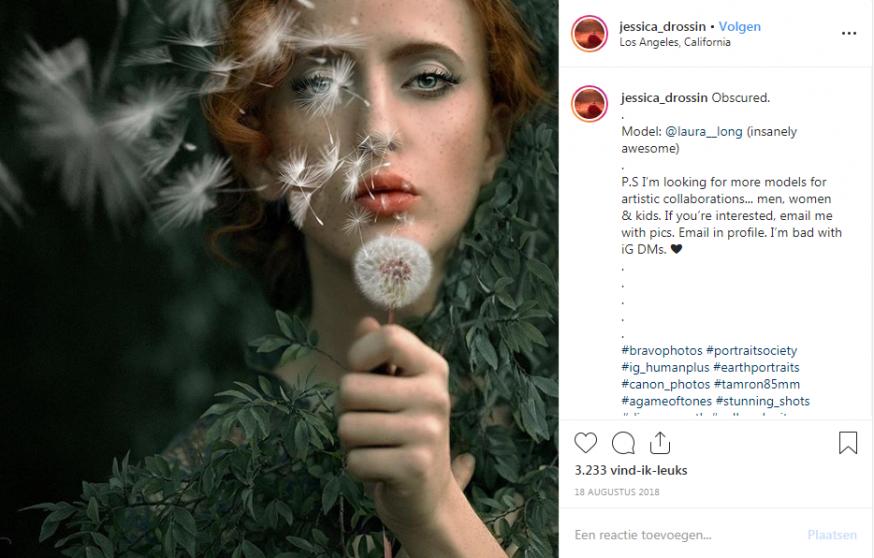 Portretfotograaf Instagram Jessia Drossin