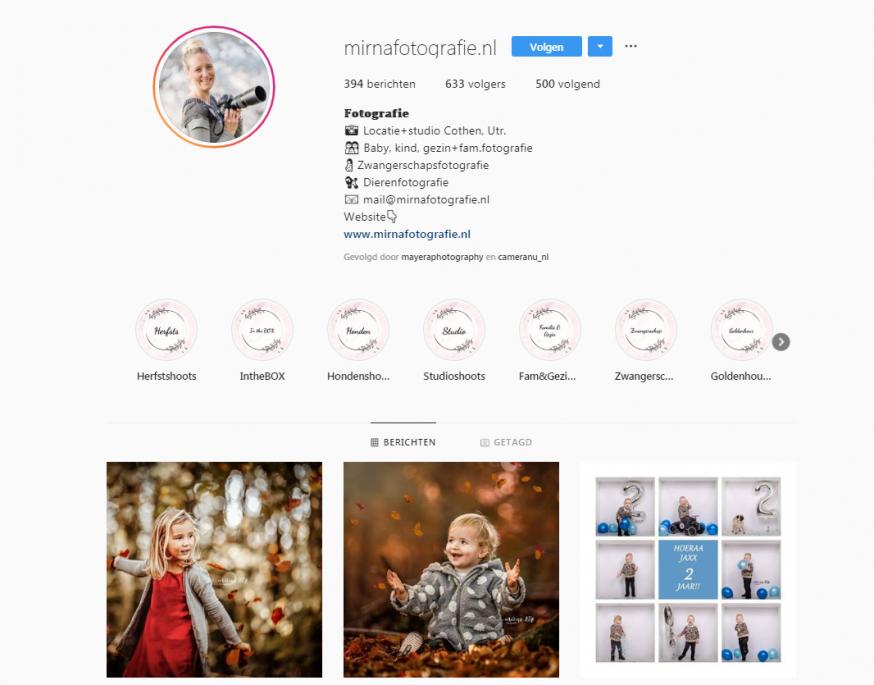 Portretfotograaf Instagram Mirna