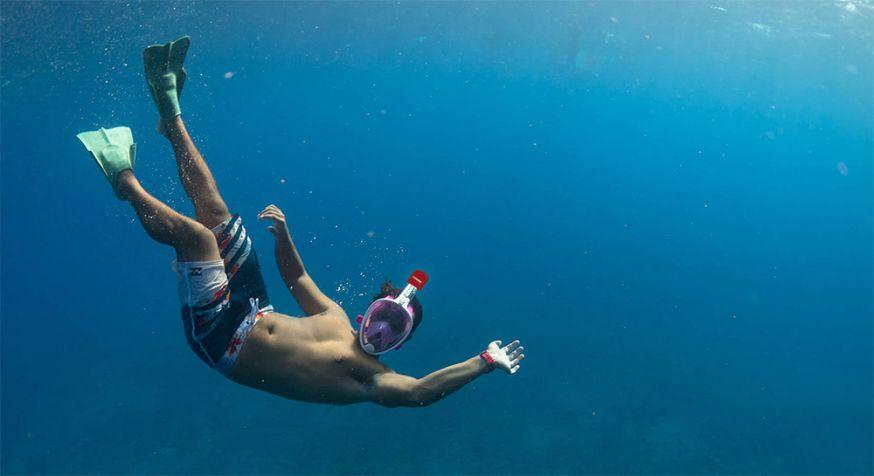 tweede prijs fotowedstrijd reizen caruba full face snorkel masker