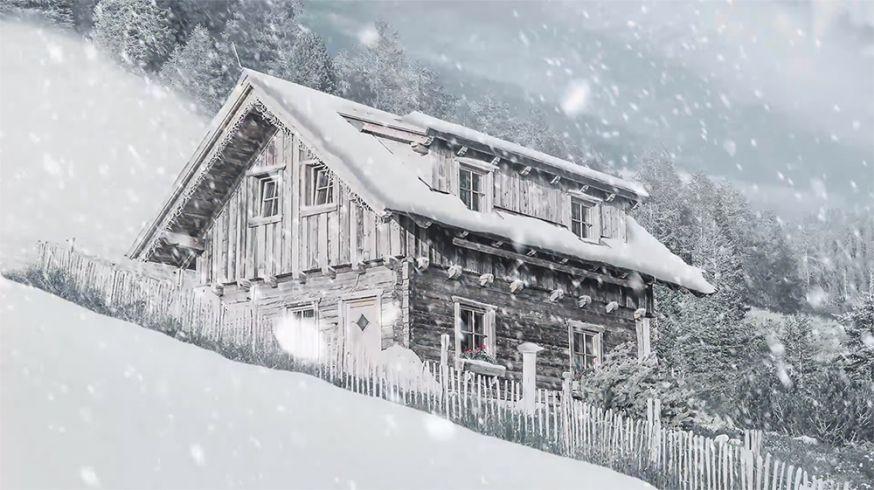 Witte kerst Photoshop
