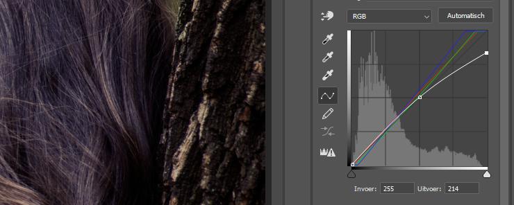 deel 2 color grading foto kopiëren curve aanpassen