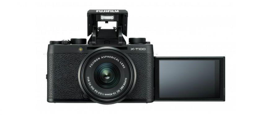 Nieuwe Fujifilm X-T100 camera met slimme autofocus, handig LCD en 24.2 mp sensor