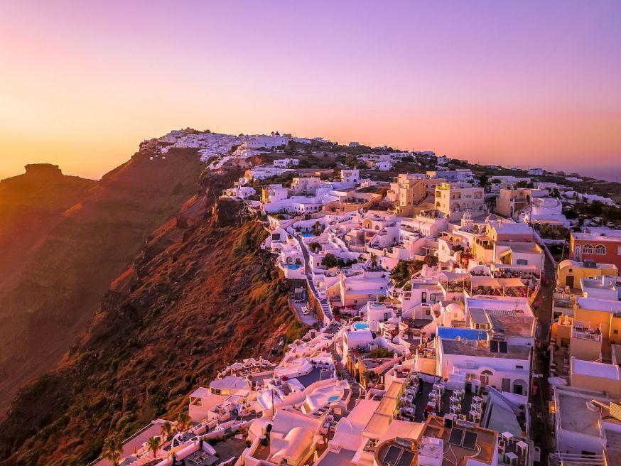 fotolocatie santorini, griekenland