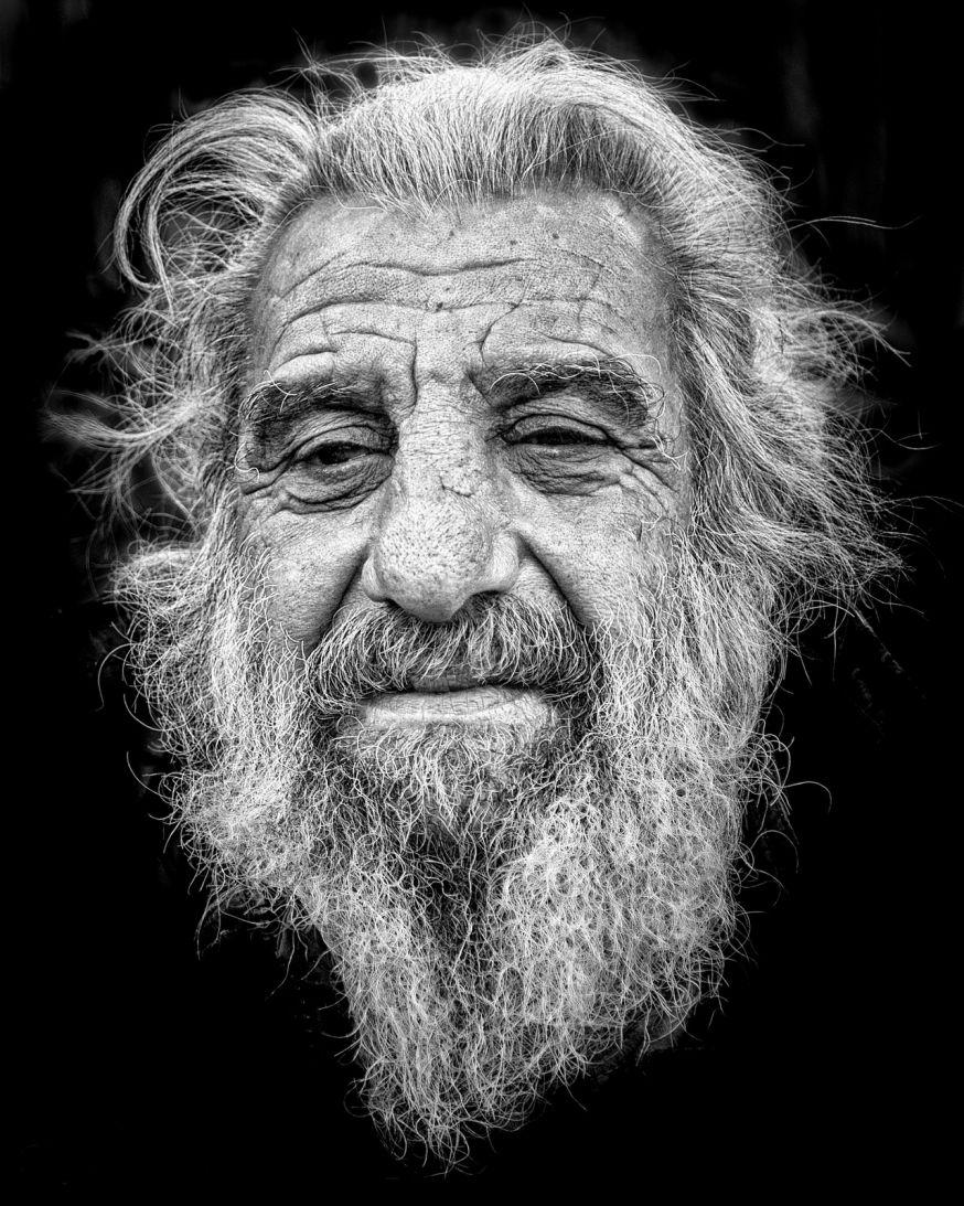 portret in zwart-wit weekopdracht