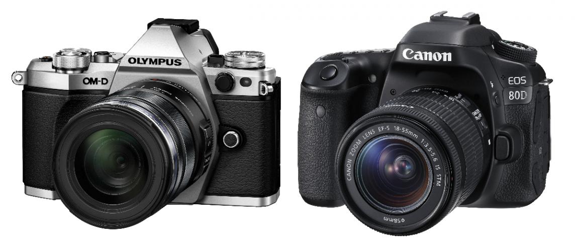 Canon EOS 80D vs Olympus OM-D E-M5 Mark II
